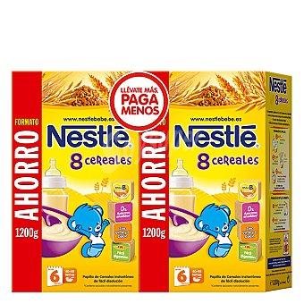 Nestlé Papillas Papilla de 8 cereales Pack 2x1200 g