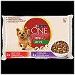 Comida húmeda para perros adultos Purina One My dog is Mini Active 4 x 100 gr 4 x 100 gr Purina One