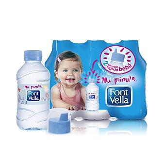 """Font Vella Agua mineral """"Mi primera agua"""" 6 botellas de 25 cl"""