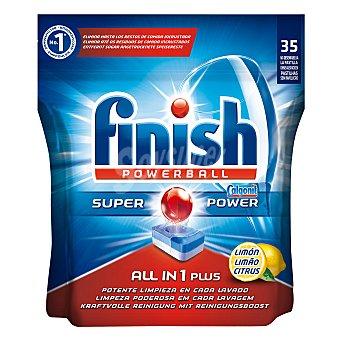 Finish Lavavajillas máquina todo en 1 Limón 35 ud