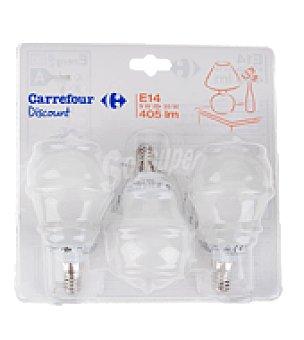 Carrefour 3 bombillas esfericas 8W E14
