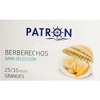 PATRON GRAN SELECCION Berberechos al natural lata 63 g neto escurrido 25-35 piezas Lata 63 g neto escurrido