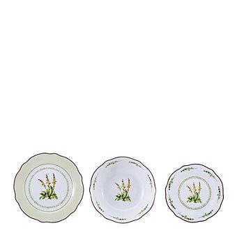 Love Vajilla en porcelana 18 piezas decorada Mod. FLOWER 18 piezas