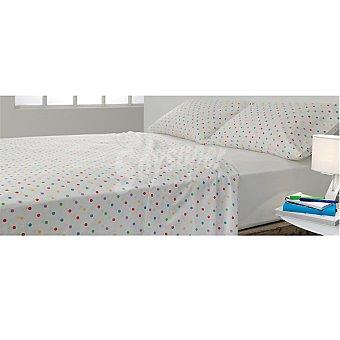CASACTUAL Globos Juego de cama con topitos multicolor para cama 105 cm