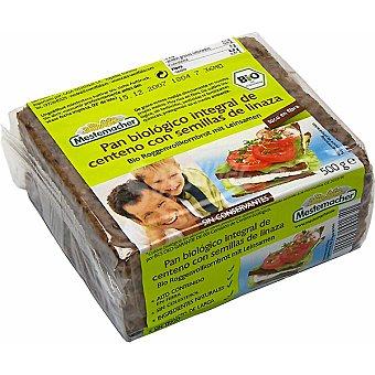 Mestemacher Pan de linaza ecologico Paquete 500 g