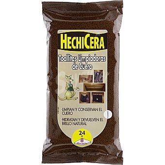 Hechicera Toallitas limpiadoras de cuero Paquete 24 unidades