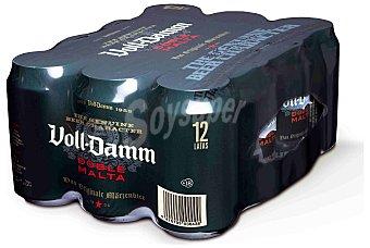 Voll-Damm Cerveza Doble Malta 12 latas de 33 cl