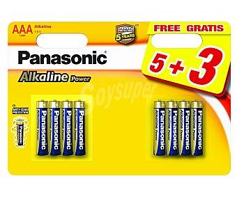 Panasonic Pilas alcalinas aaa, LR03, 1,5V Pack de 8 unidades