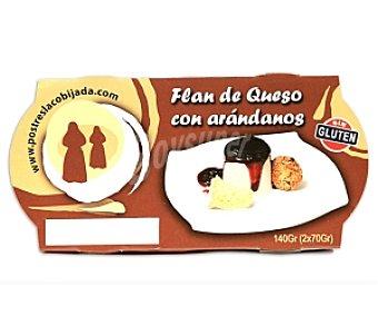 La cobijada Flan de queso con arándanos Pack 2 Unidades de 70 Gramos