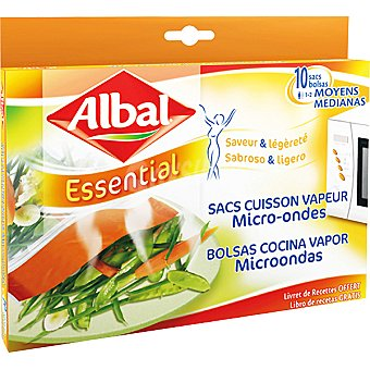 ALBAL bolsas para cocinar al vapor en microondas paquete 10  unidades