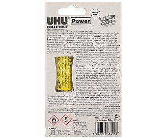 UHU Tubo flexible de adhesivo extrafuerte de 18 mililitros, no gotea y es resistente al agua y a los rayos UV 1 unidad
