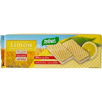 Santiveri Galletas rellenas de limón sin azúcar Paquete 160 g
