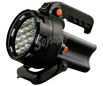 RDM Foco, proyector con 19 Leds con 3 modos diferentes de iluminación y adaptador para red y coche 1 unidad