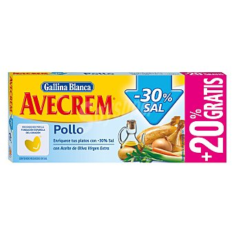 Avecrem Gallina Blanca Caldo de pollo natural -30% sal Caja 10 pastillas