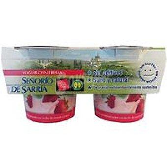 Señorio de Sarria Yogur con fresas Pack 2x125 g