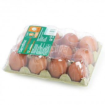 Carrefour Huevos L 12 ud Blister 12 ud