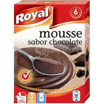 Royal Mousse sabor chocolate para preparar 6 raciones Estuche 158 g