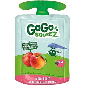 Gogo Squeez Preparado de manzana y melocotón 100% fruta Envase 90 g