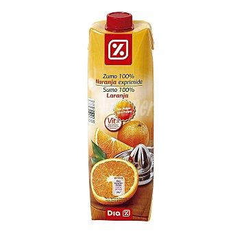 DIA Zumo exprimido sin pulpa naranja Envase 1 lt
