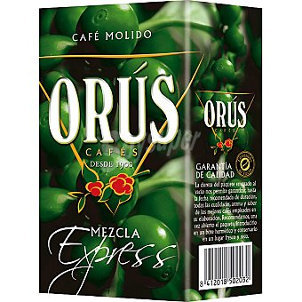 Orus Café molido mezcla 50/50 Paquete 250 g