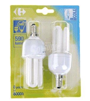 Carrefour 2 bombillas 11W E14 fria