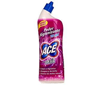 Ace Limpiador WC en gel líquido con lejía perfumada, limpia e higieniza, blanquea y da brillo y elimina los malos olores 700 mililitros