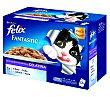 Comida húmeda para gatos adultos en gelatina  Pack 12 x 100 g  Purina Felix