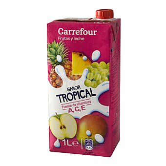 Carrefour Zumo con leche tropical 1 l