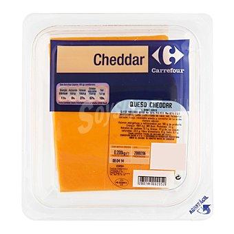 Carrefour Queso Cheddar con naranja loncheado Sobre de
