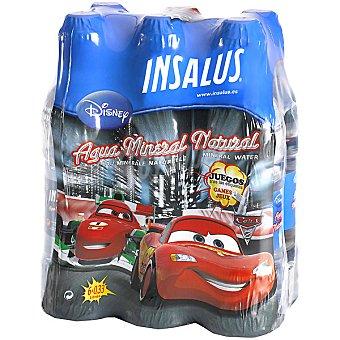 INSALUS Disney Cars Agua mineral natural Pack 6 botellas 33 cl
