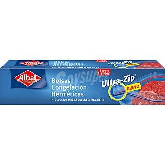 Albal Bolsa de congelacion Ziploc grandes hermeticas doble cierre caja 12 unidades 3 litros