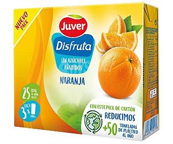 Juver Disfruta Zumo de naranja Pack 3 uds x 33 cl