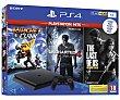 Consola Playstation 4 Slim con disco duro de 1 TB más 3 juegos: Ratchet & Clank, Uncherted 4 y The last of us, SONY.  Sony