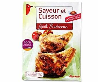 Auchan Bolsa para asar pollo con condimento sabor barbacoa 30 Gramos