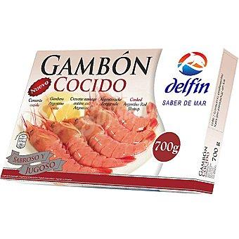 Delfín Gambón cocido 14-21 piezas Estuche 700 g neto escurrido