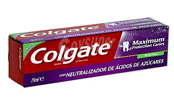 Colgate Dentífrico maximum protection caries sabor a menta fresca  Tubo 75 ml