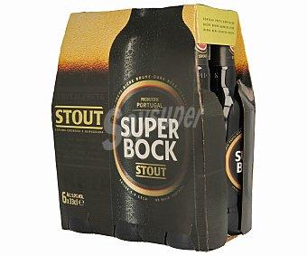 Superbock Cerveza negra portuguesa Pack de 6 botellas de 33 centilitros