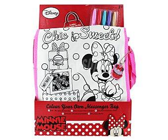 Disney Juego creativo Pinta tu bolso de Minnie Mouse, incluye 5 rotuladores 1 unidad