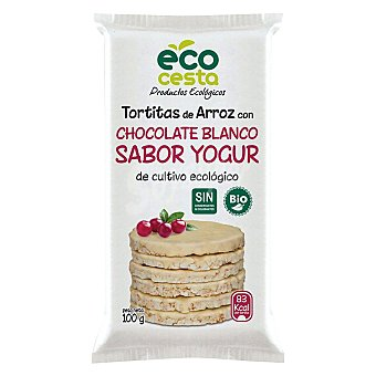 Ecocesta Tortas arroz con yogurt bio 100 g