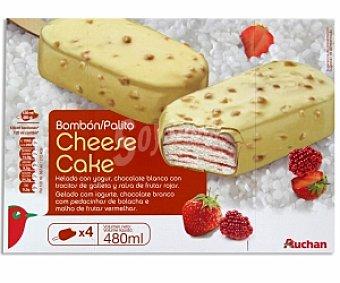 Auchan Bombón Helado Cheese Cake Pack 4 Unidades de 120 Gramos