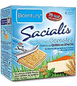 Bicentury Sandwich de cereales relleno de queso en crema Sacialis 70 g