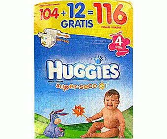 Huggies Pañales superseco talla 4 Paquete de 116unidades