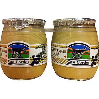 CAN CORDER Yogur con café pack de 2 envase 125 g pack de 2 envase 125 g
