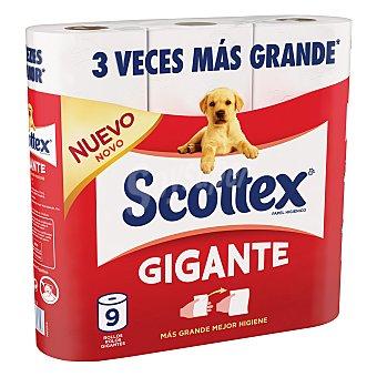 Scottex Papel higiénico Gigante Paquete de 9 rollos