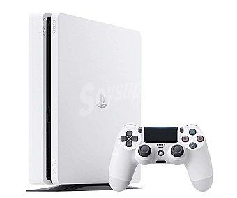 Sony Videoconsola Playstation 4 edición Slim color blanco con disco duro de 500Gb, incluye 1 mando Dualshok 4 1 unidad
