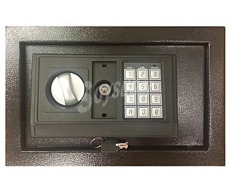 ARREGUI Caja fuerte electrónica digital de acero forjado y de 31x20x20 centímetros, que incluye 2 llaves, 4 pilas LR06 y 2 anclajes metálicos para la fijación en la pared 1 unidad