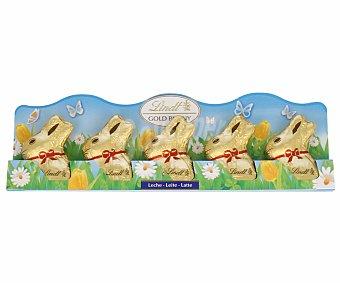Lindt Conejitos de Pascua de chocolate con leche 5u