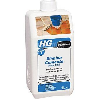 HG Limpiador elimina cemento capa fina Botella 1 l