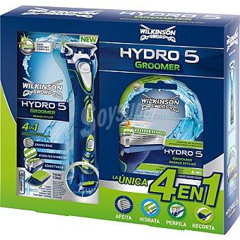 Wilkinson Pack Hydro 5 Groomer maquinilla de afeitar 4 en 1 + cargador estuche 1 unidad 4 unidades