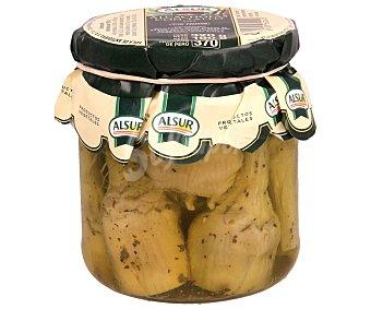 Alsur Alcachofas con tallo en aceite frasco de 190 gramos